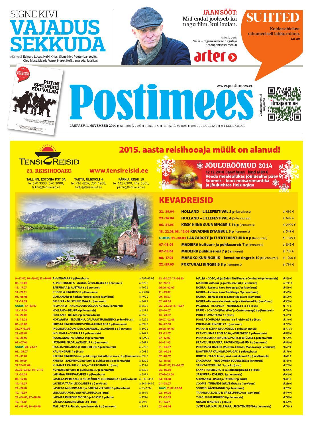 59fe41ae37c Postimehe paberleht 01 11 2014 by Postimees - issuu