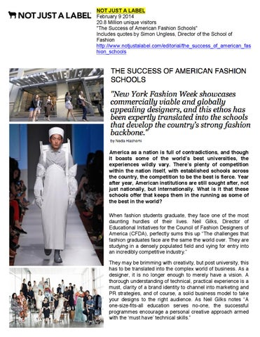 02 09 2014 Not Just A Label By Academy Of Art University School Of Fashion Issuu