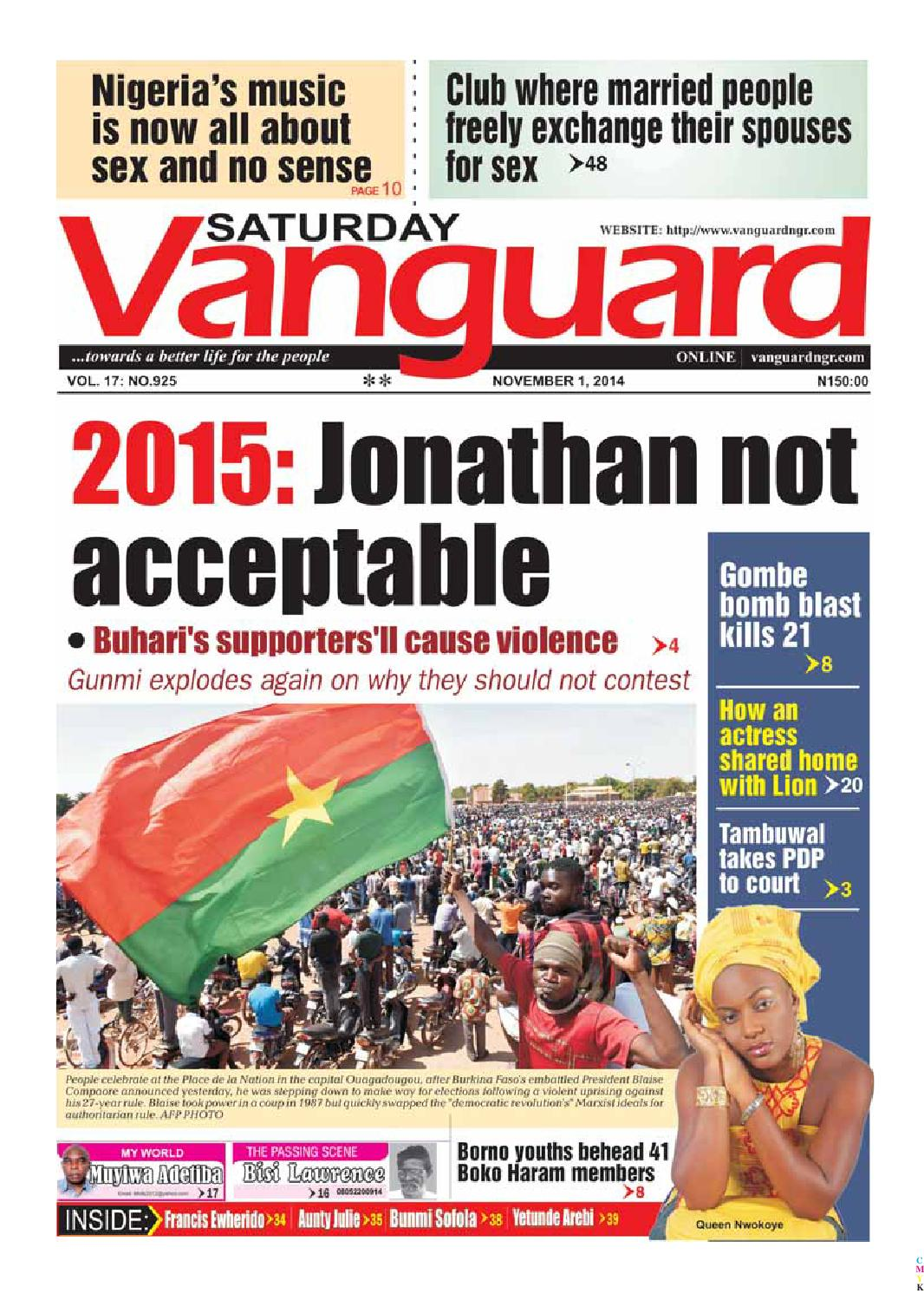 2015: Jonathan not acceptable by Vanguard Media Limited - issuu