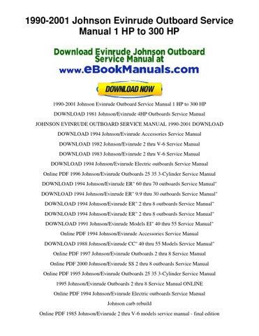 1990 2001 Johnson Evinrude Outboard Service Manual 1 Hp To border=