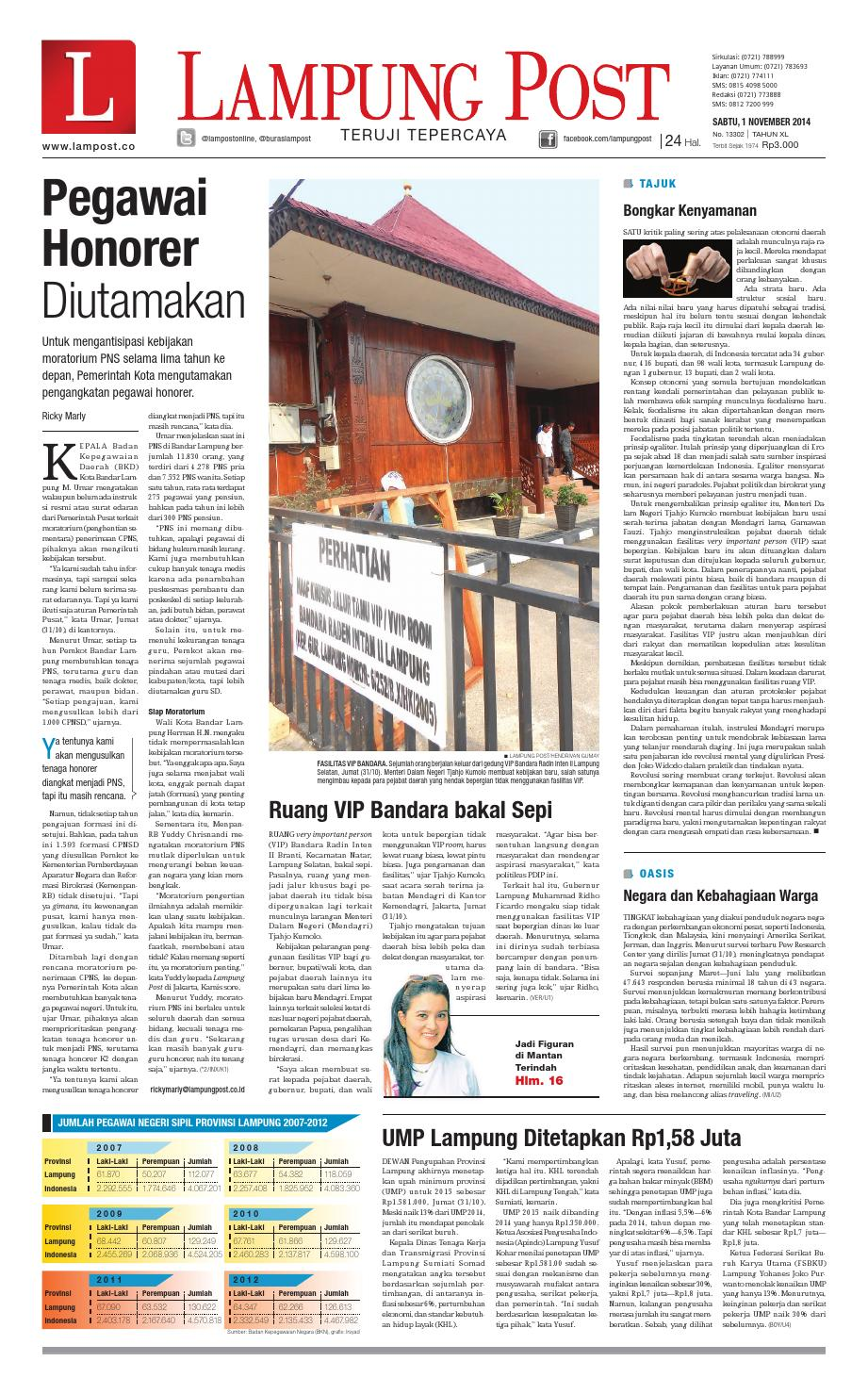 Lampung Post Sabtu 1 November 2014 By Issuu Produk Ukm Bumn Sulam Usus Pmk