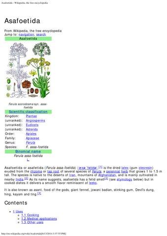 Asafoetida wikipedia, the free encyclopedia by nirmal