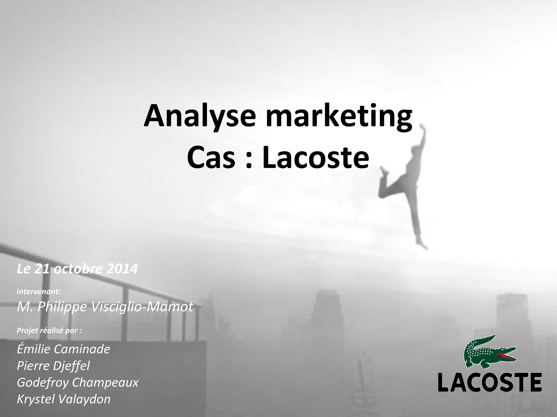 By Lacoste Strategique CIssuu Marketing Cas Emilie NXwO8nPk0