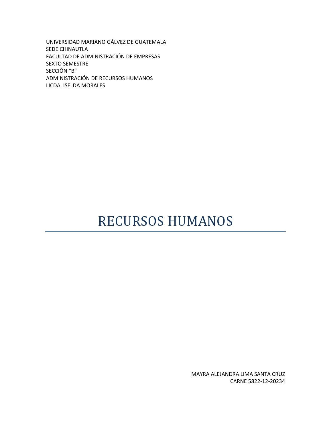 Recursos Humanos by Mayra - issuu