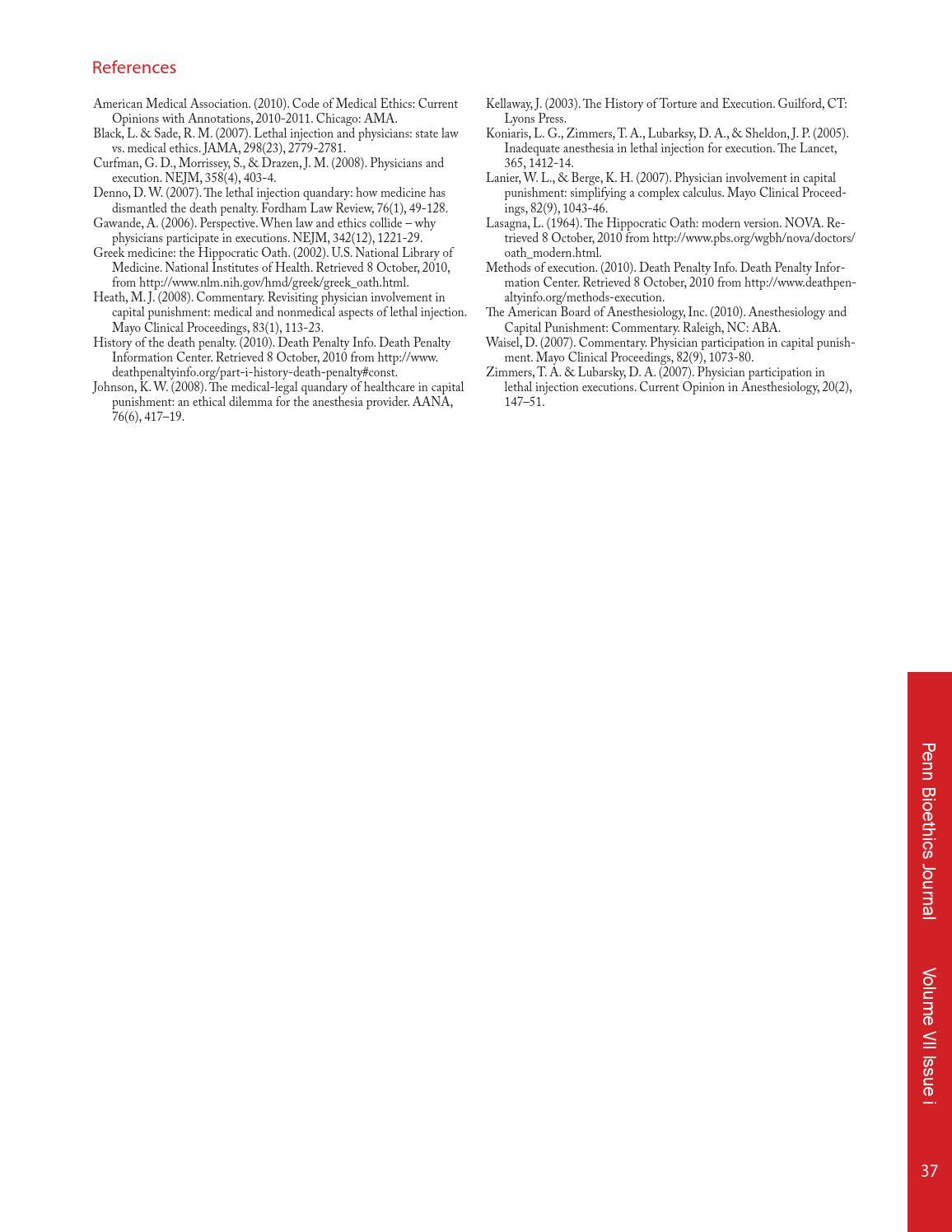 Volume VII Issue i by Penn Bioethics Journal - issuu