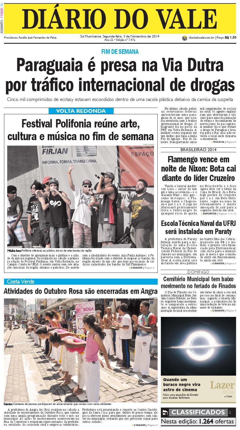7476 diario segunda feira 03 11 2014 by Diário do Vale - issuu c94a8f60ff2
