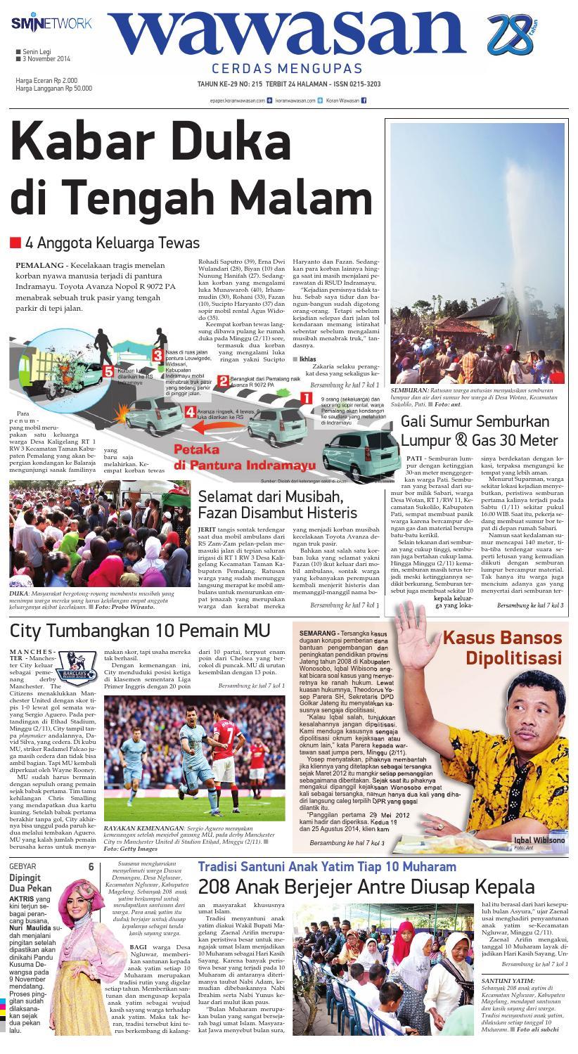 Wawasan 03 Nopember 2014 By Koran Pagi Issuu Rkb Bni Tegal Kranjang Buah Nur Fashion And Art
