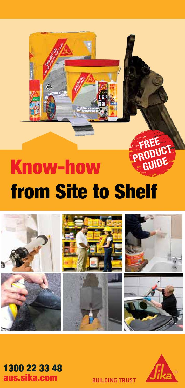 Sika Product Catalogue Retail by Jenny Perello - issuu