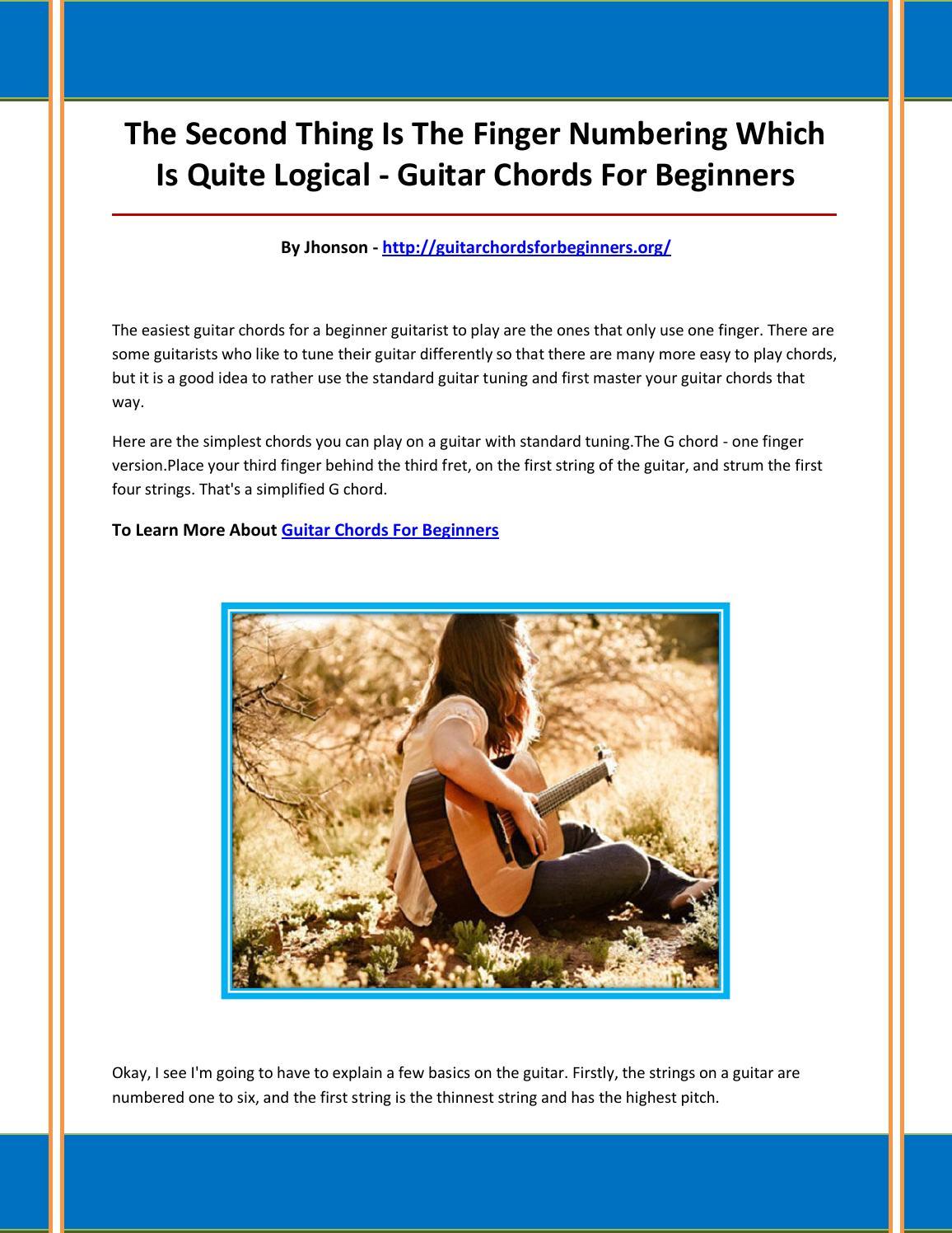 Guitar Chords For Beginners By Rghjvnbhgbvgfhvfvn Issuu