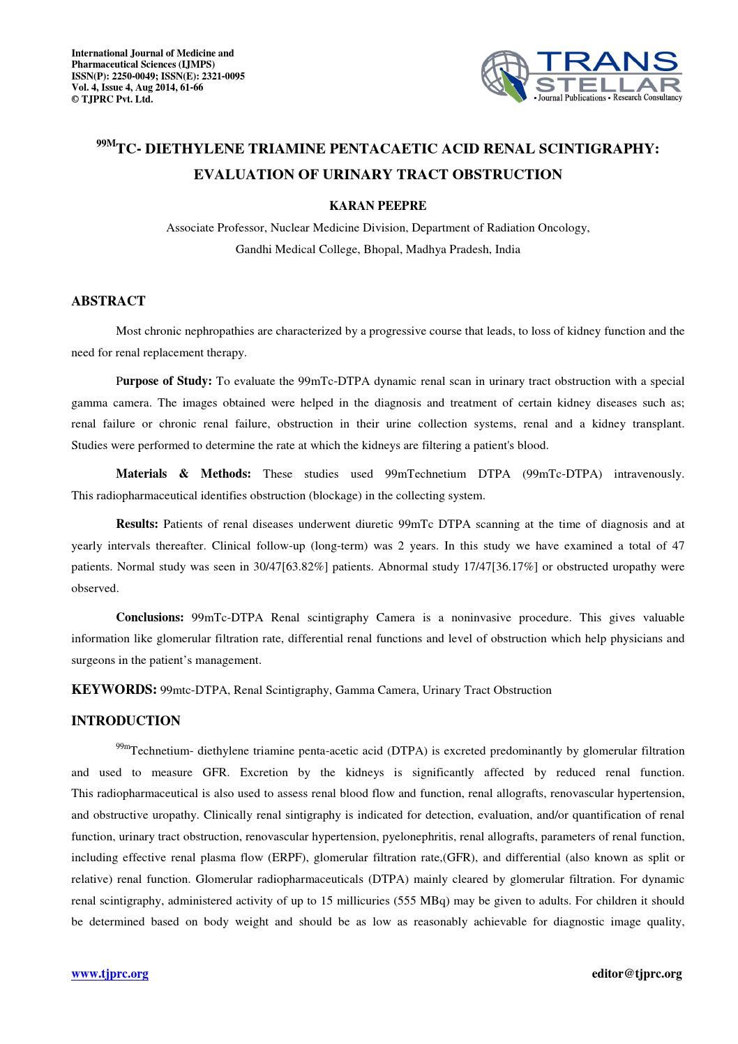 7 medicine ijmps 99mtc diethylene triamine pentacaetic karan