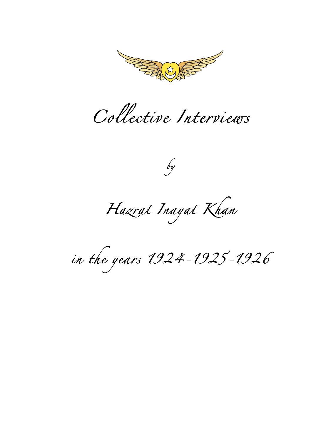 Collective interviews 1924 1926 by soefi beweging nederland