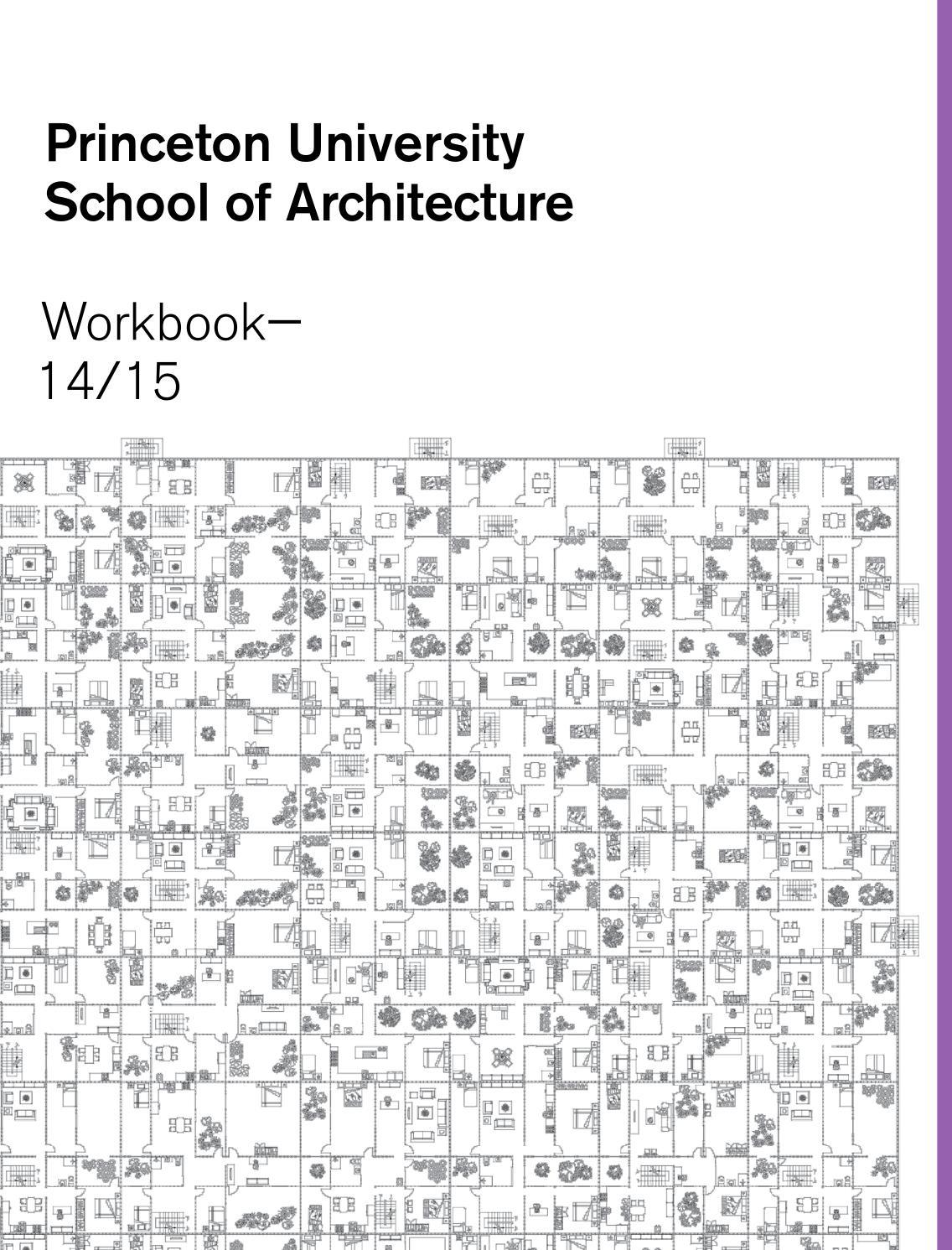 Workbooks relationship rescue workbook : Princeton University School of Architecture Workbook 14/15 by ...
