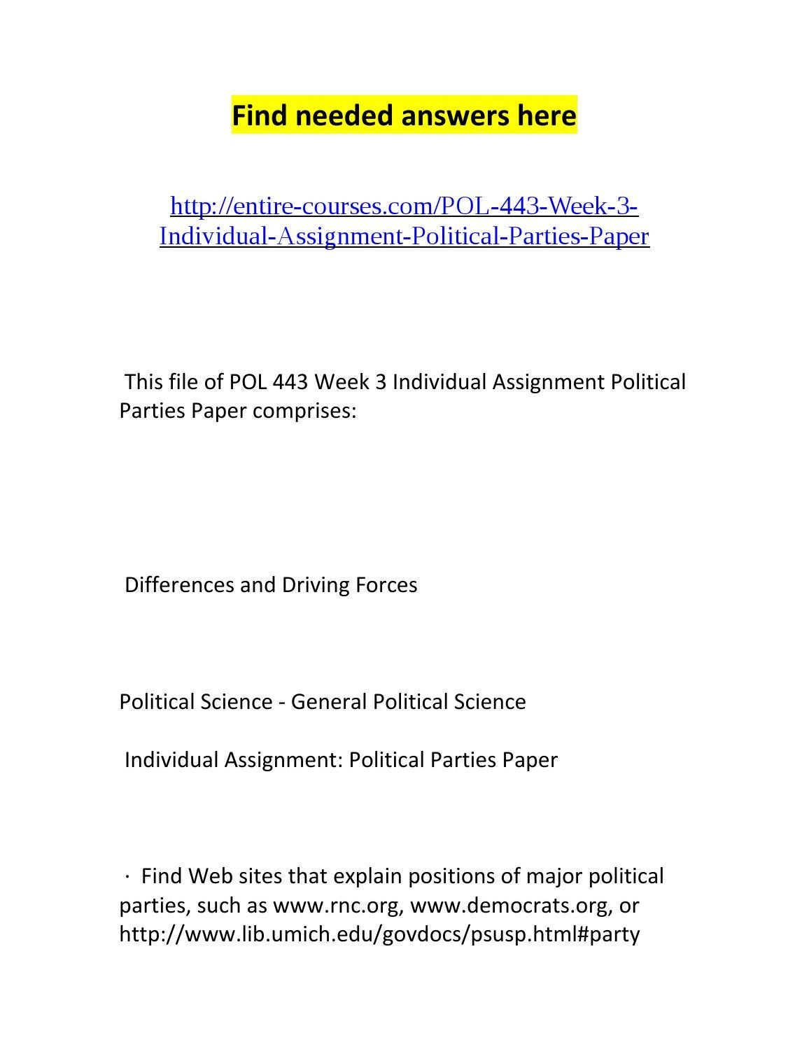 Political parties: a selection of sites