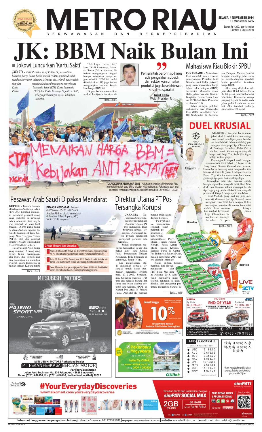 04112014 By Harian Pagi Metro Riau Issuu Samsung Galaxy J1 Mini Bundling Telkomsel Tau