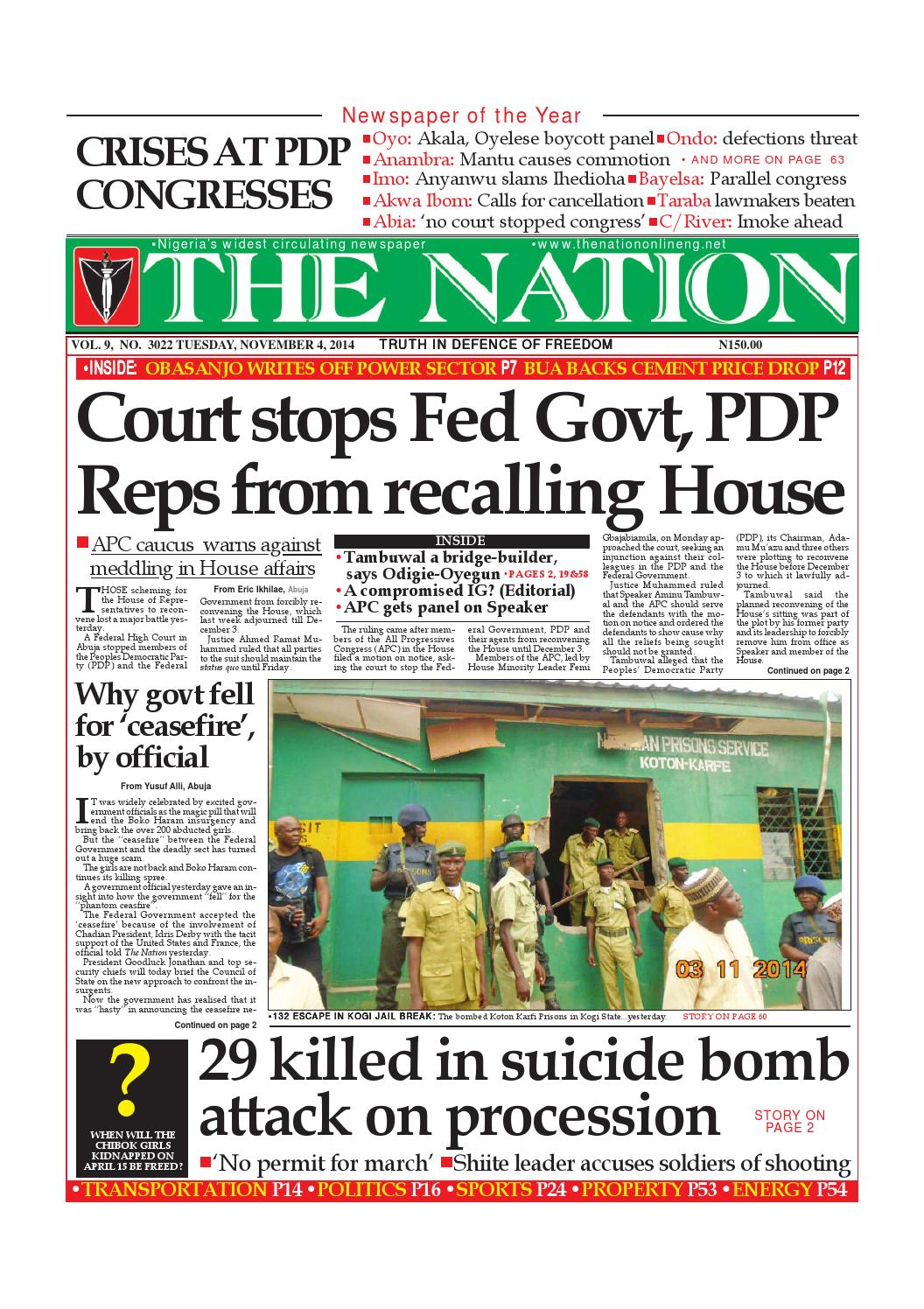 The Nation November 04, 2014 by The Nation - issuu