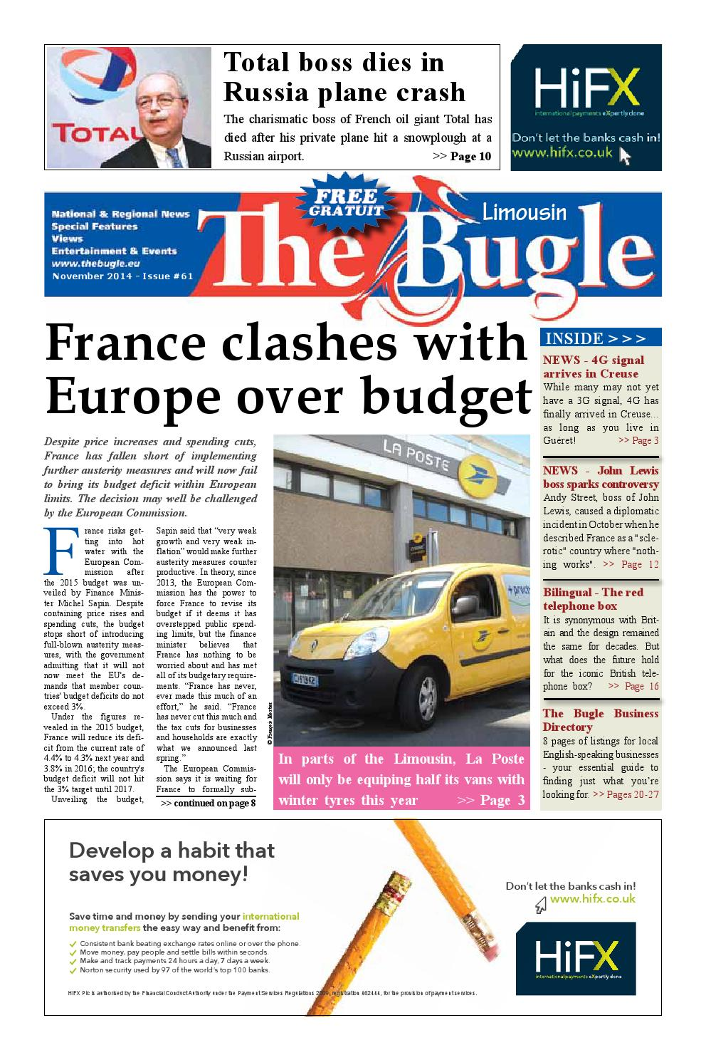 The Bugle Limousin - Nov 2014 by The Bugle - issuu