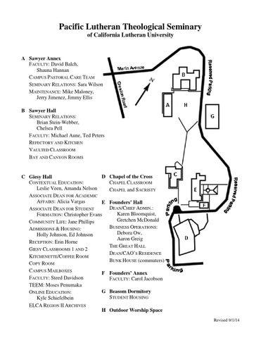 California Lutheran University Campus Map.Plts Campus Map By California Lutheran University Issuu