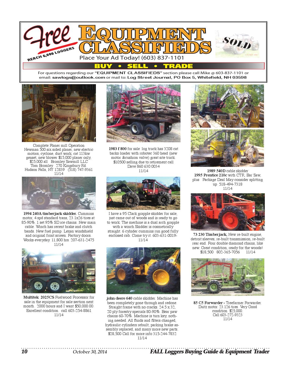 Fall Loggers Buying Guide 2014 by Log Street Publishers, LLC - issuu