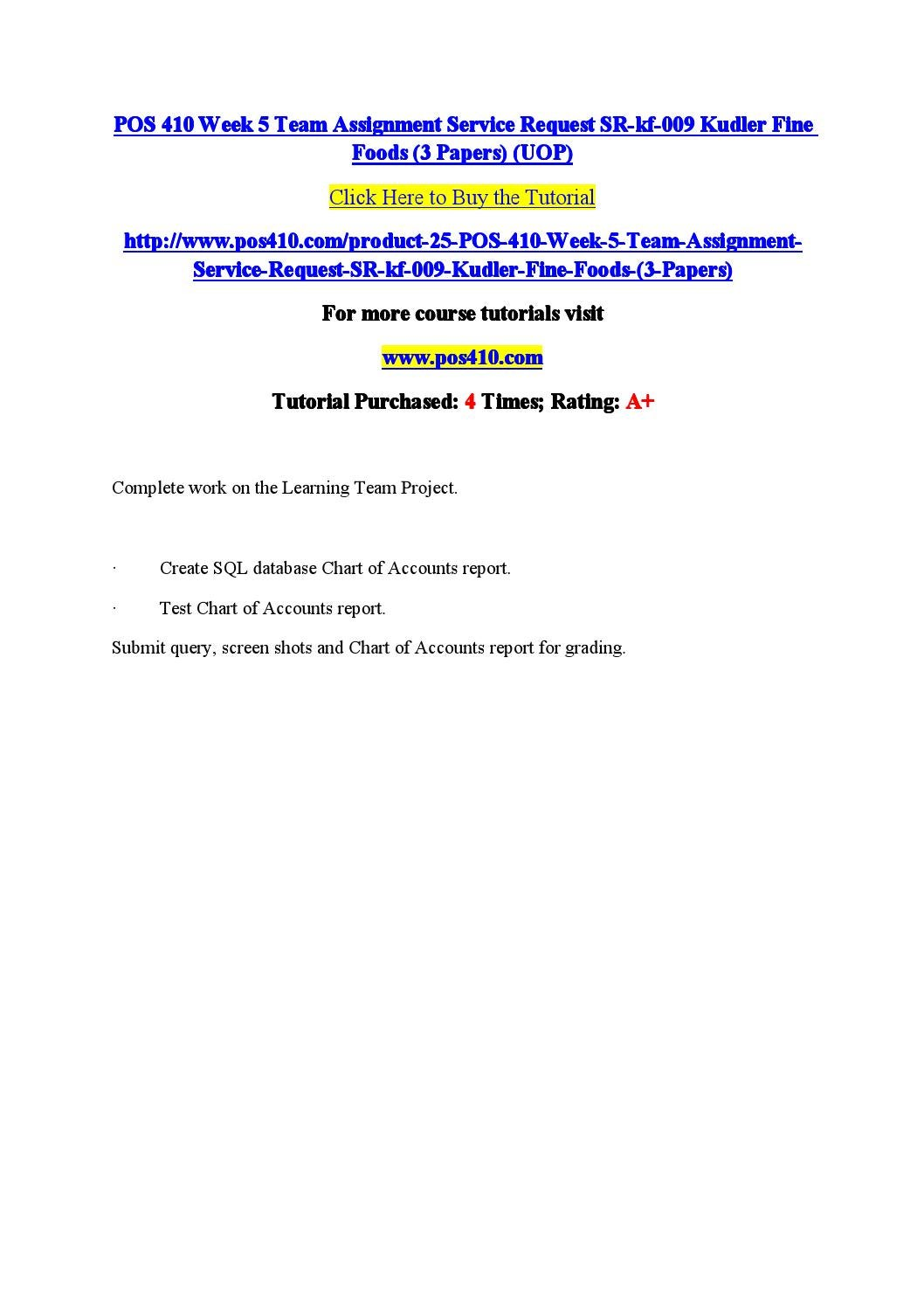 Service request sr kf 013 paper wk 2