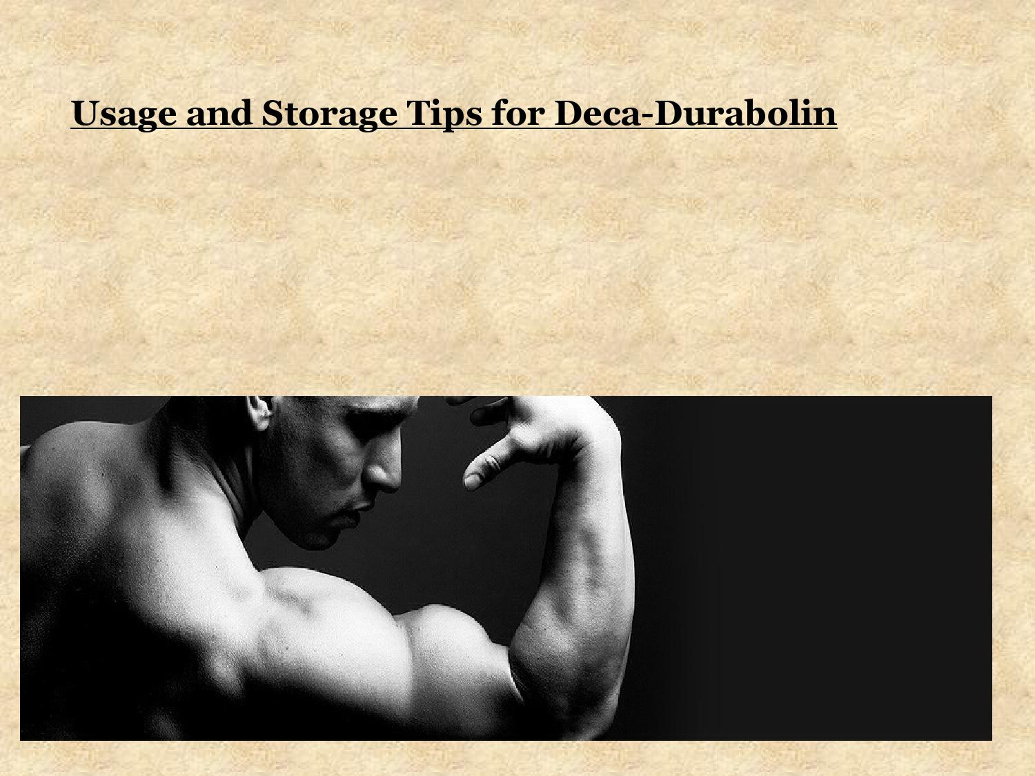 Usage and Storage Tips for Deca-Durabolin by Steroid Bazaar