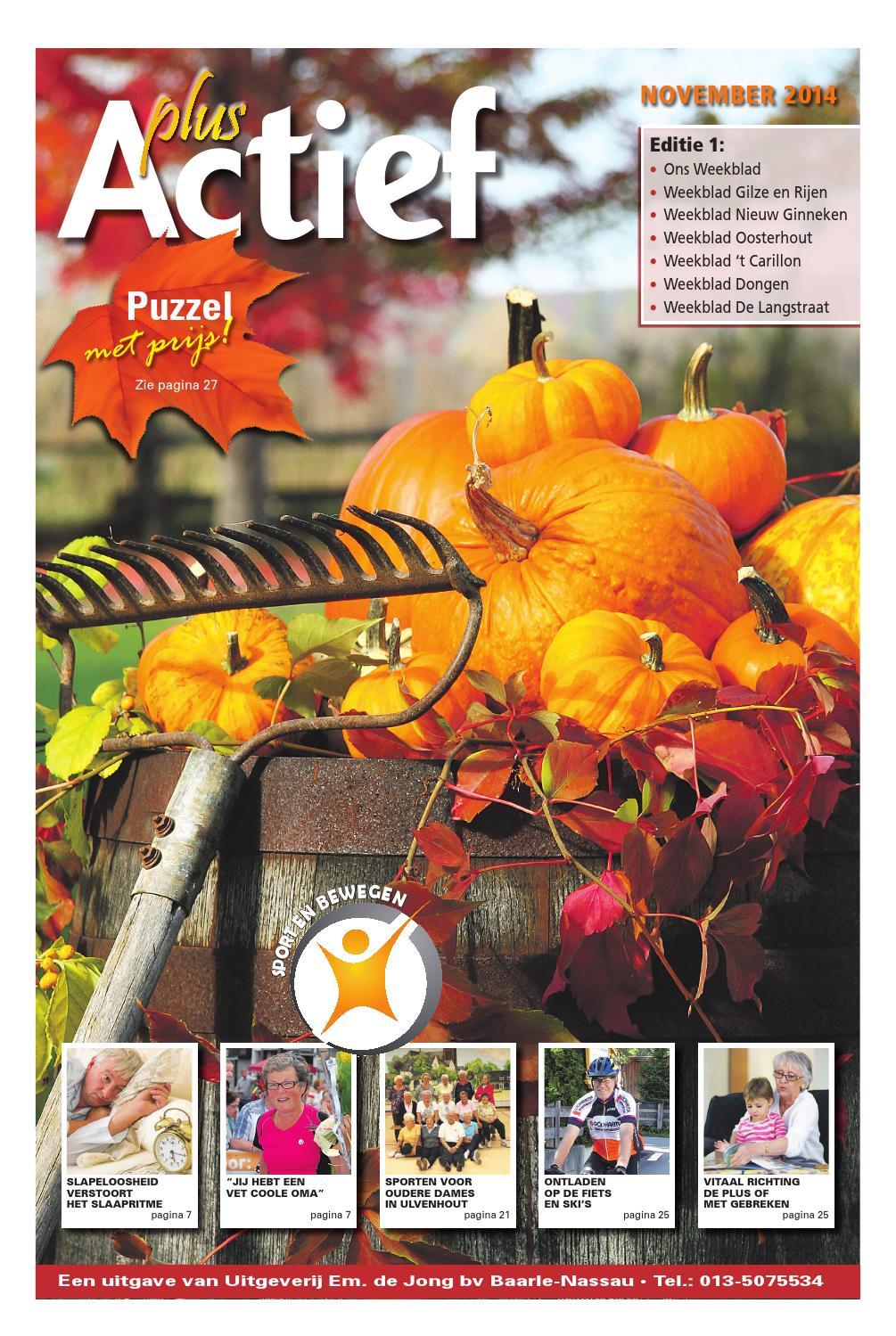Actief plus najaar 2014 editie1 by uitgeverij em de jong for Nassau indus deur bv oosterhout