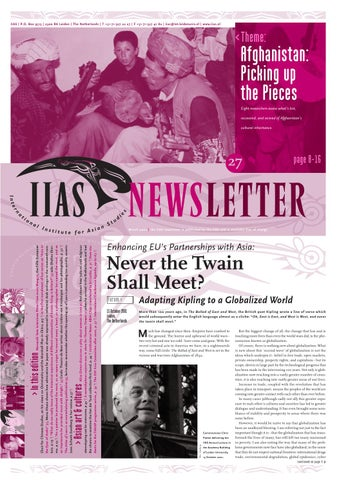 IIAS Newsletter 27 by International Institute for Asian Studies - issuu