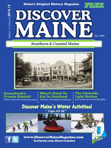 Sm14 final copy by discover maine magazine issuu volume 11 issue 8 2014 15 maines original history magazine fandeluxe Choice Image