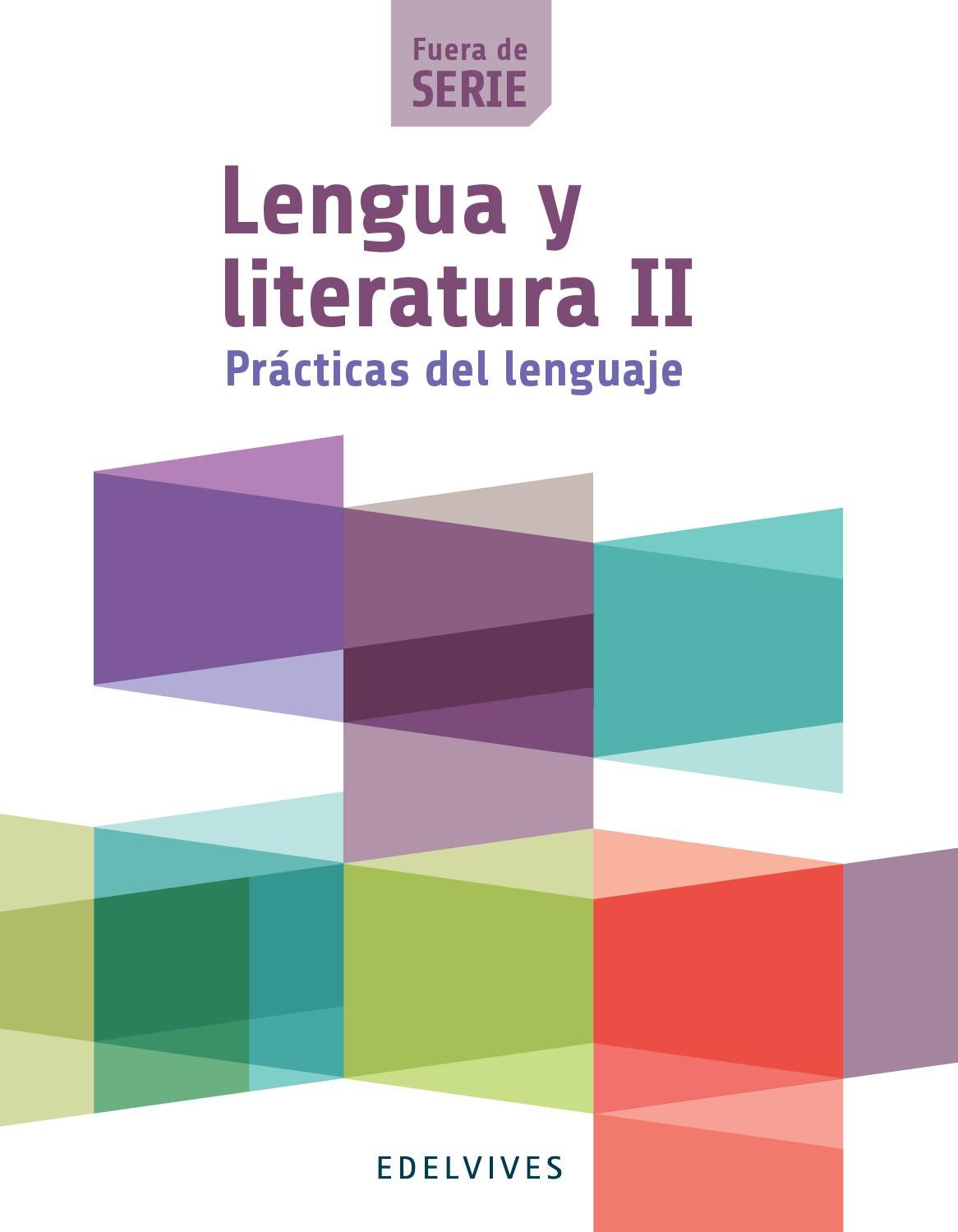 Lengua y literatura ii fuera de serie libro del alumno for Fuera de serie libro
