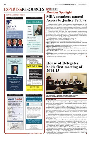 Massachusetts Lawyers Journal November 2014 by The Warren Group - issuu