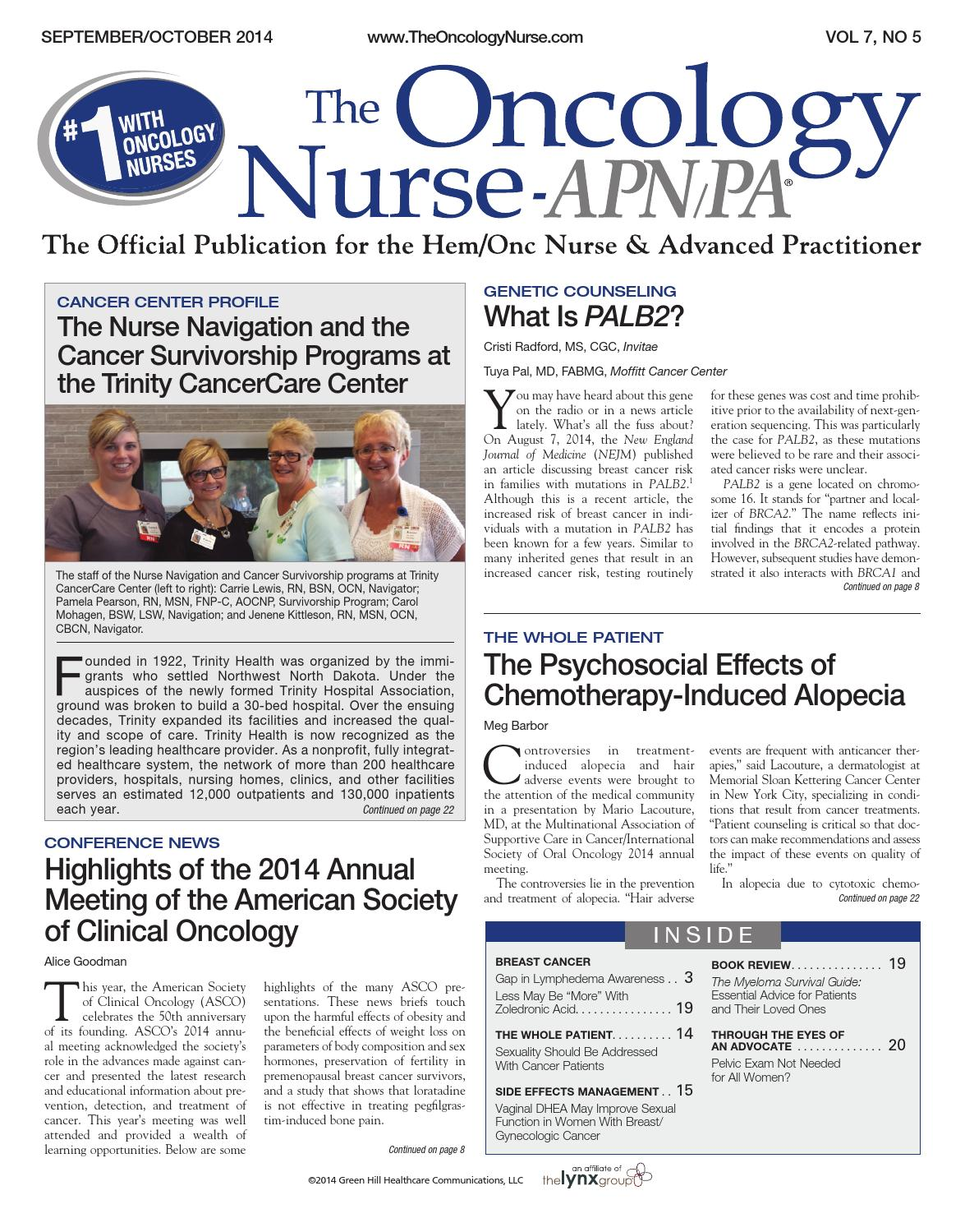 The Oncology Nurse September/October 2014 by The Oncology Nurse - issuu
