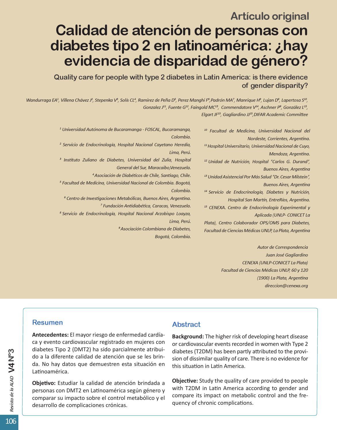 asociación de diabetes de género