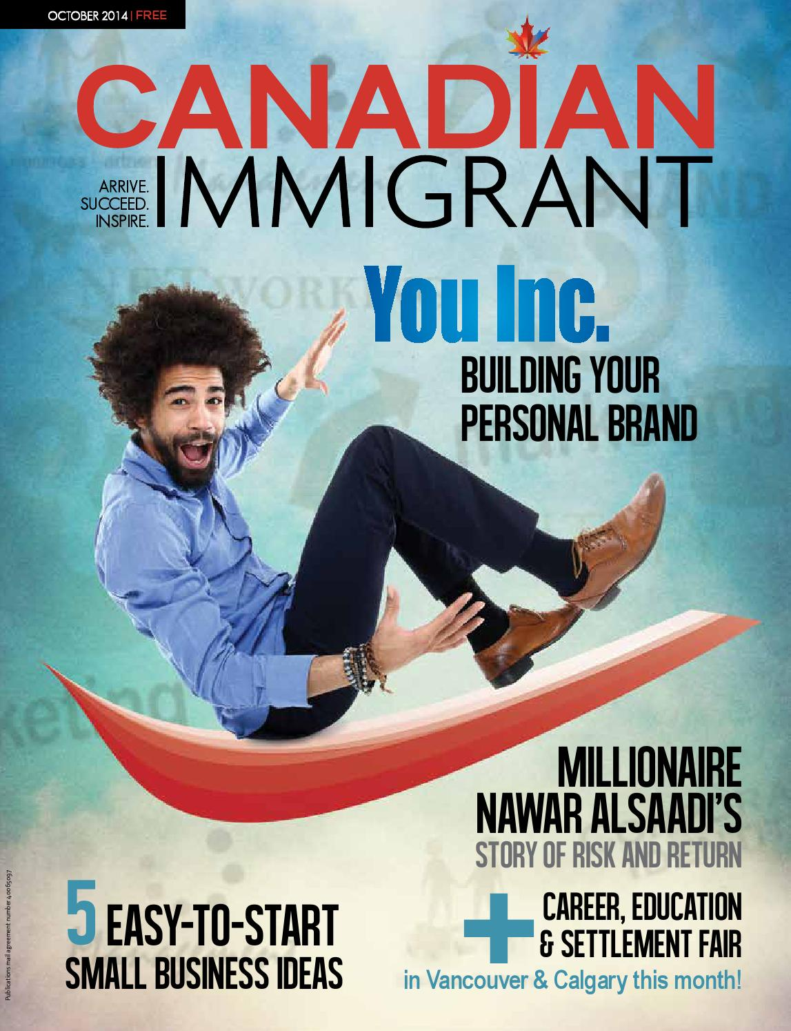 Canadian Immigrant Magazine October 2014 Issue by Canadian Immigrant ...