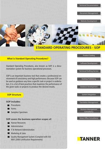 Flyer Brochure Standard Operating Procedures En by TANNER Vietnam