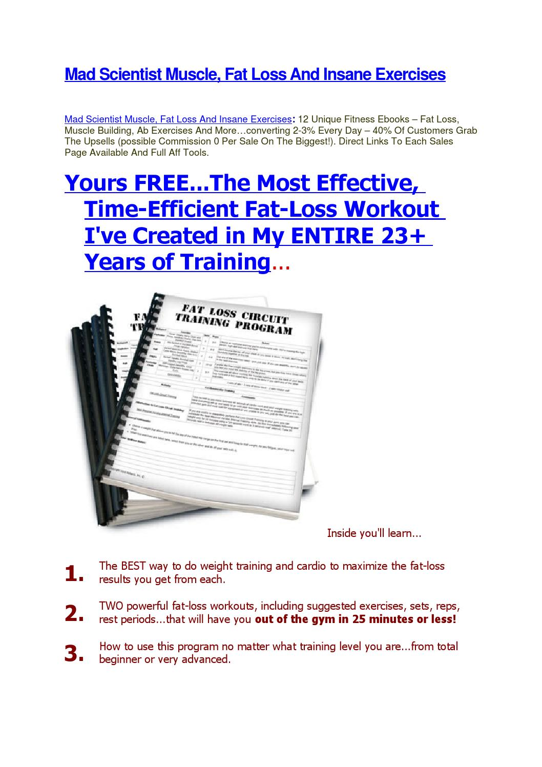 Mad Scientist Muscle Fat Loss And Insane Exercises By Mahdi Bchour