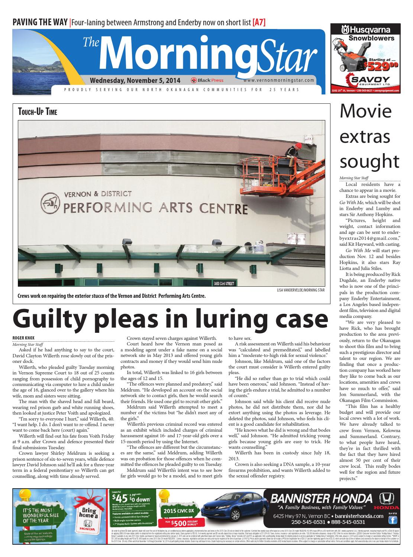 Vernon Morning Star, November 05, 2014 by Black Press - issuu