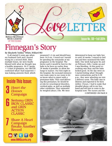 Love Letter Issue No 58 By Rmhc Of The Ozarks Inc Issuu