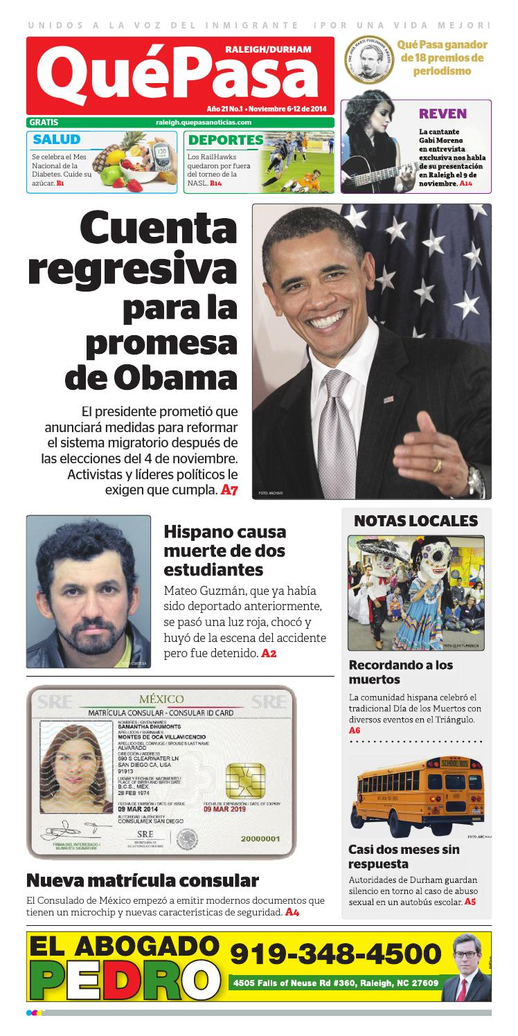 Quepasa raleigh v21n01 by Que Pasa Media Network - issuu