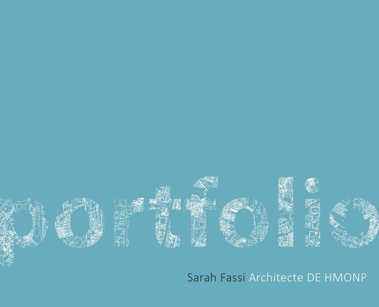 portfolio sarah fassi architecte de hmonp by sarah fassi
