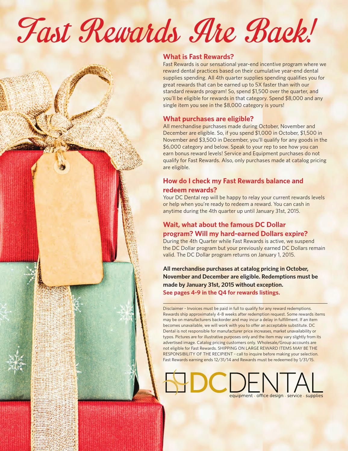 Fast Rewards 2014 By Dc Dental Issuu Current Balance Relay