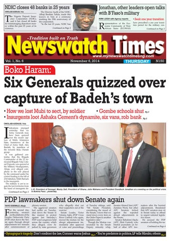 2c371259a3 Thursday 06 11 2014 e version by Daily Newswatch - issuu