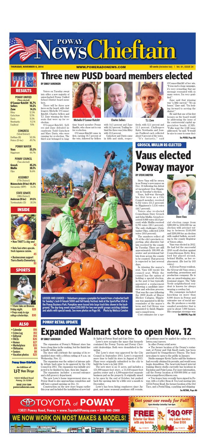 Elisa Triani Calendario.11 06 14 Poway News Chieftain By Mainstreet Media Issuu