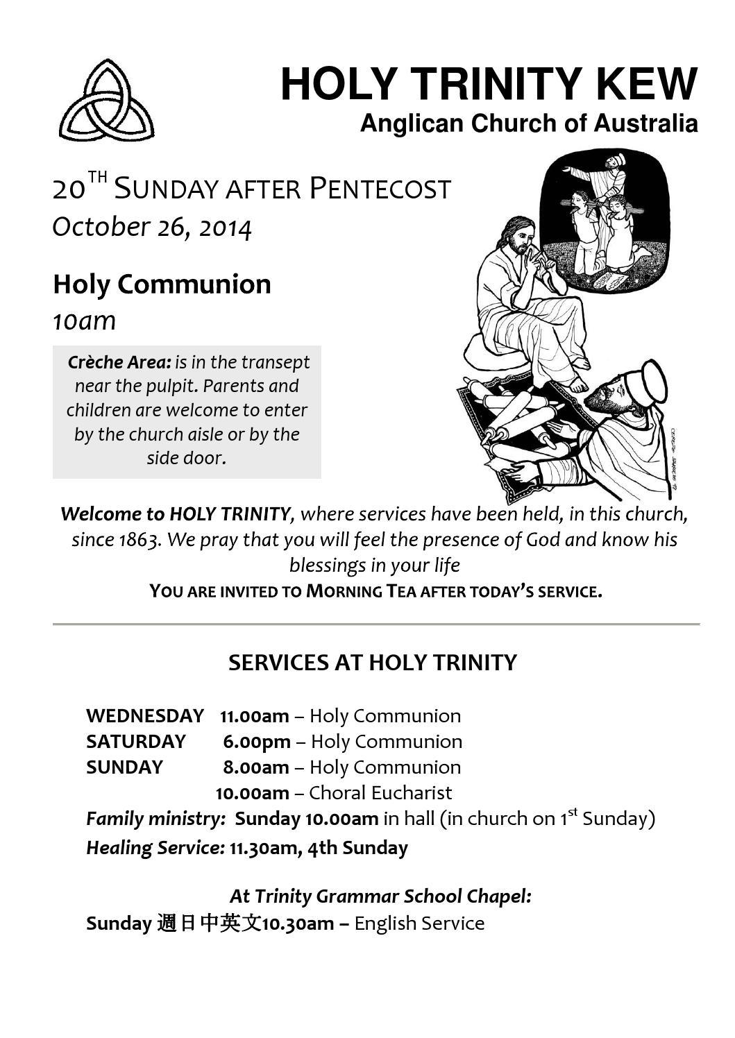 2014 10 26 10am by Holy Trinity - issuu