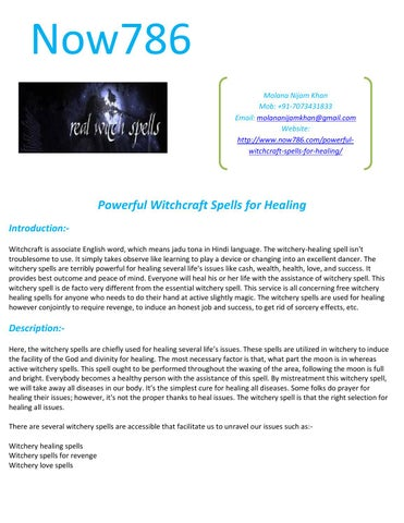 Powerful witchcraft spells for healing by Astro Guru - issuu