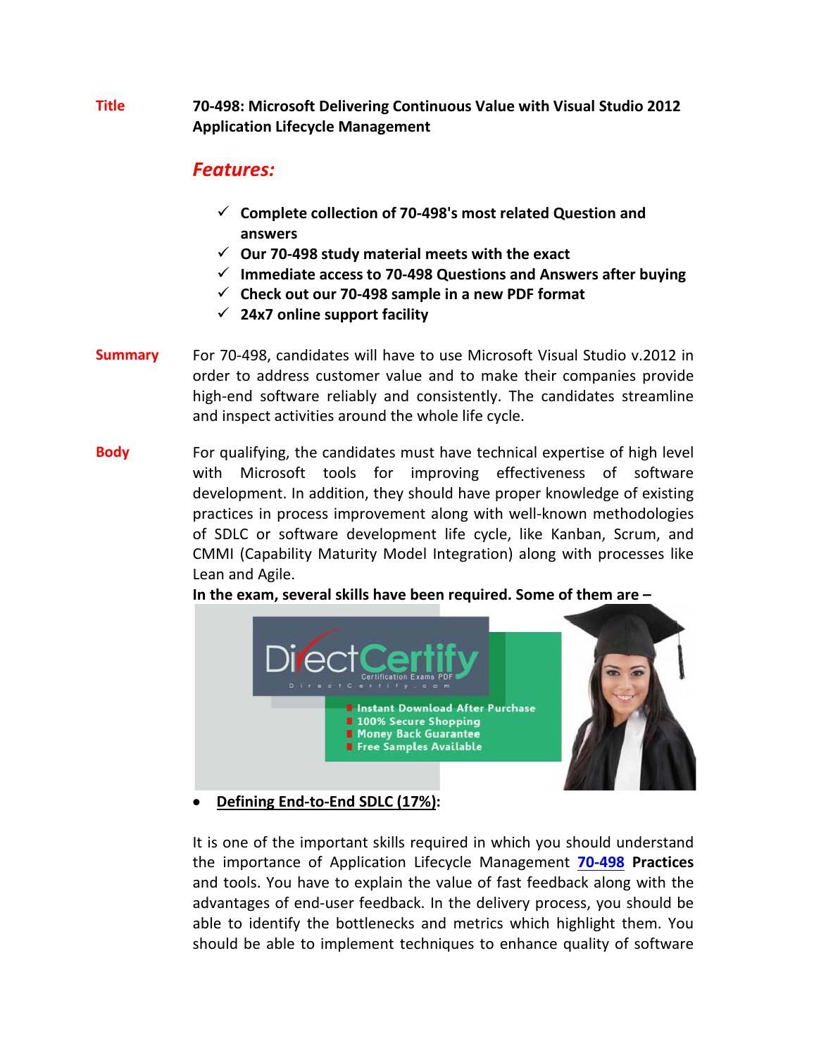 70 498 Test Certification By Clark Chan Issuu
