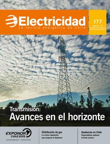cf2bd562eb2a3 177 ISSN 0717-164 noviembre 2014   A帽o 23 www.revistaelectricidad.cl