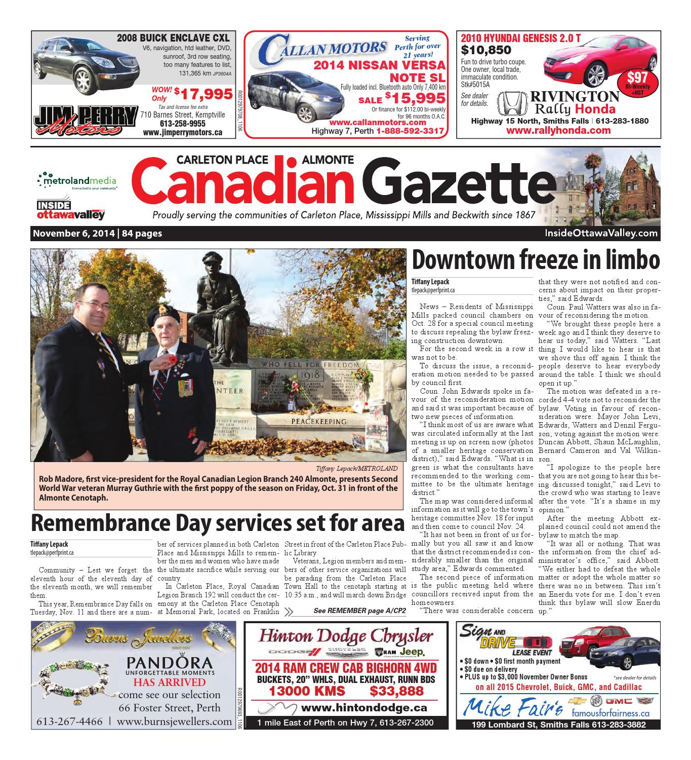 Almontecarletonplace110614 By Metroland East Almonte Carleton Gmos Wiring Diagram Chevy Additionally 2005 Cadillac Sts Place Canadian Gazette Issuu