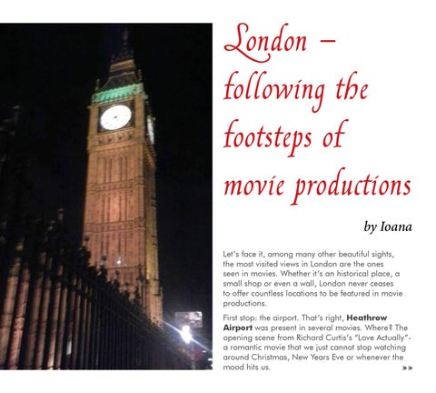 London - following the footsteps of movie productions by