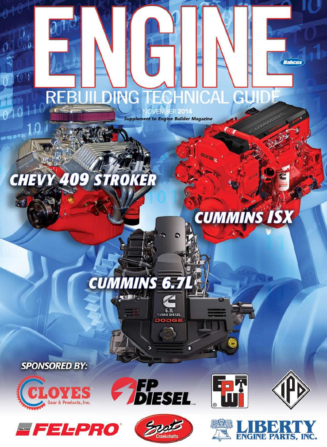 Engine Rebuilding Technical Guide, November 2014 by Babcox