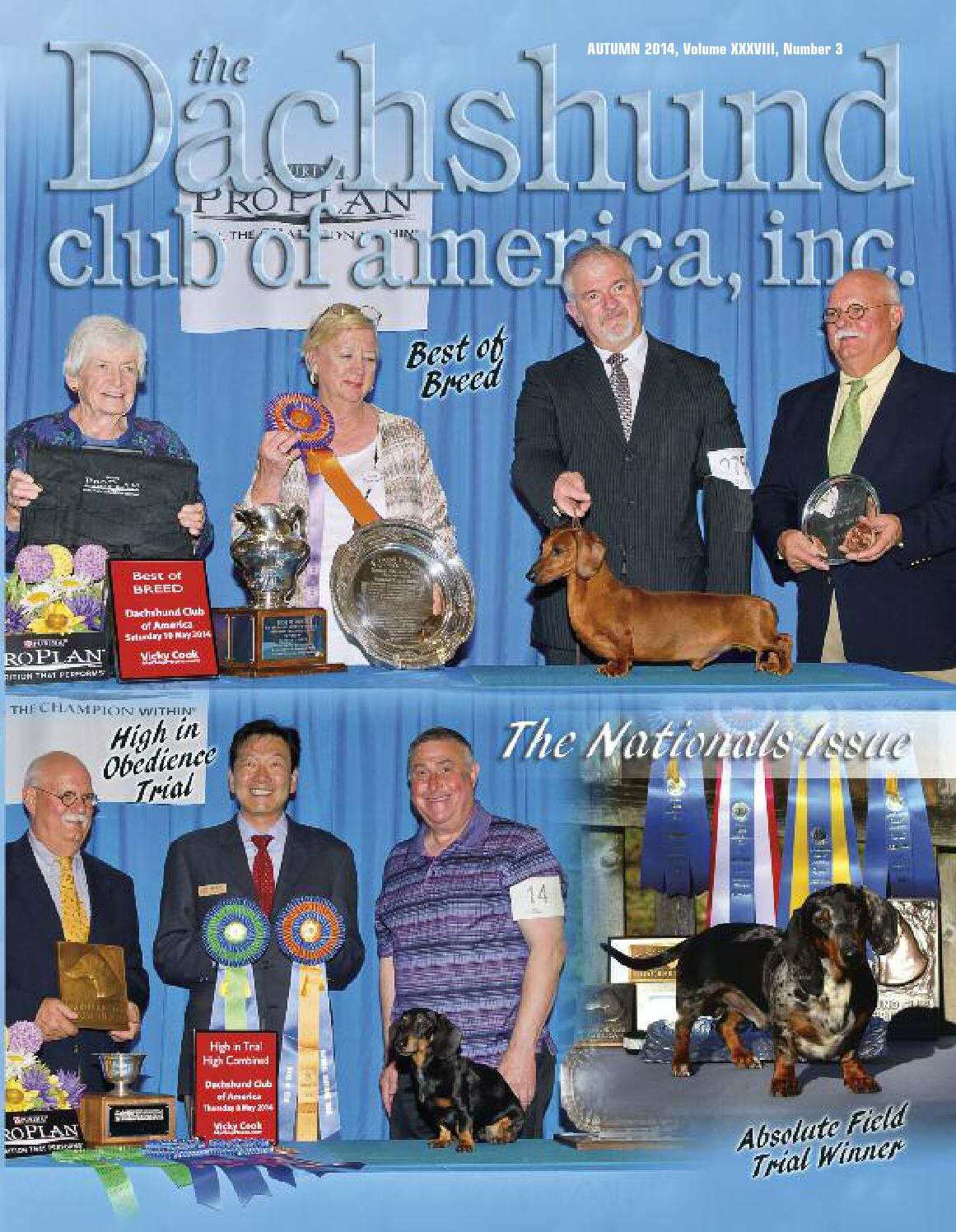 Dachshund Club of America Newsletter Autumn 2014 by Lynne Dahlen - issuu