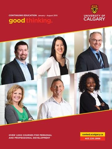 University Of Calgary Continuing Education Winter Spring Summer